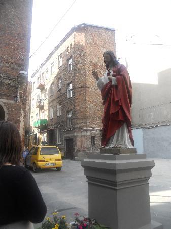 Jesus statue in Warsaw, Poland