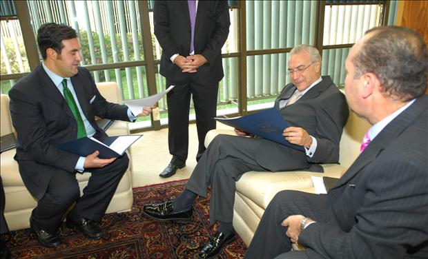 Jordan Sekulow speaking with Michel Temer about Pastor Youcef Nadarkhani.