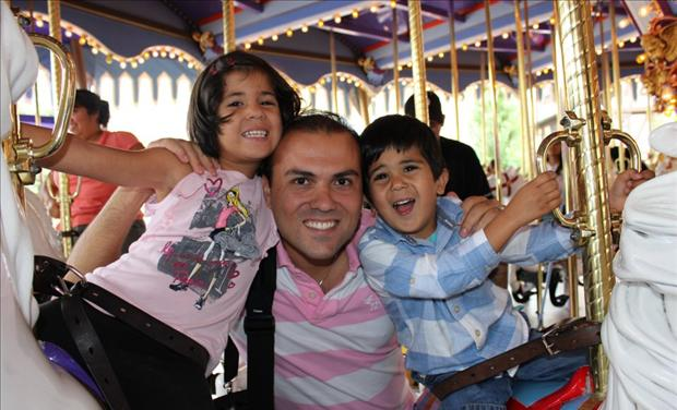 Saeed Abedini & family