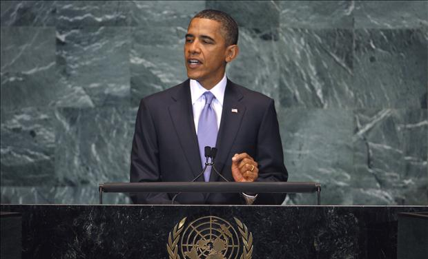 U.S. President Obama addresses the 65th United Nations General Assembly at U.N. headquarters in New York